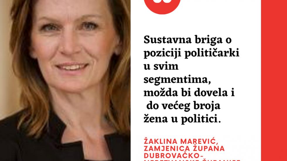 """Žaklina Marević: """"Još uvijek se osjeti nedostatak žena u politici"""""""